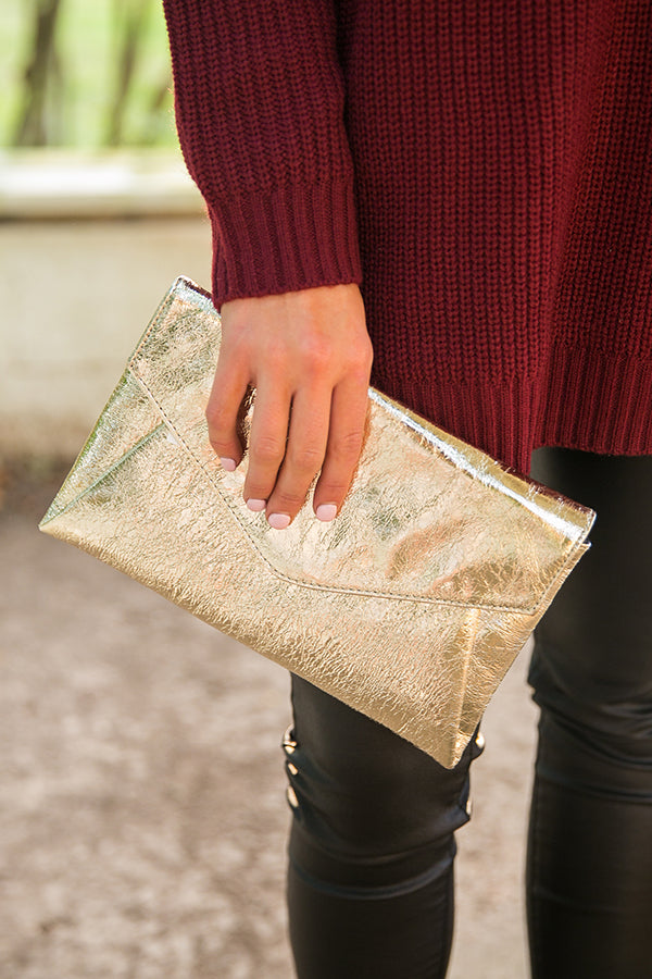 24 Karat Clutch in Gold