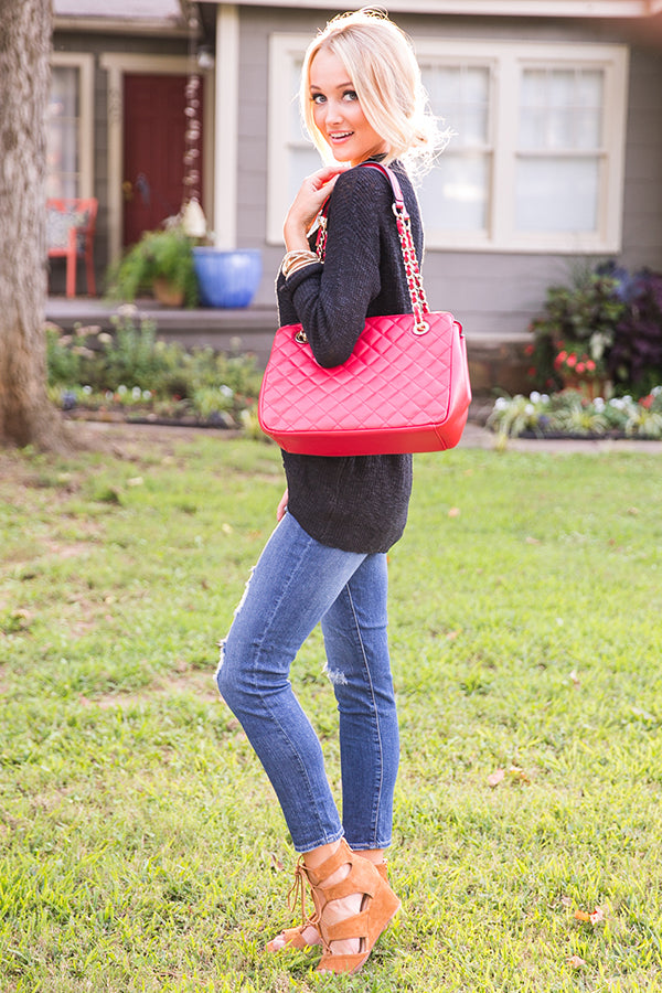 Coco in the City Quilted Bag in Red