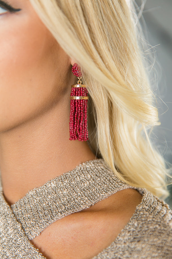 Give Me Glitz Tassel Earrings