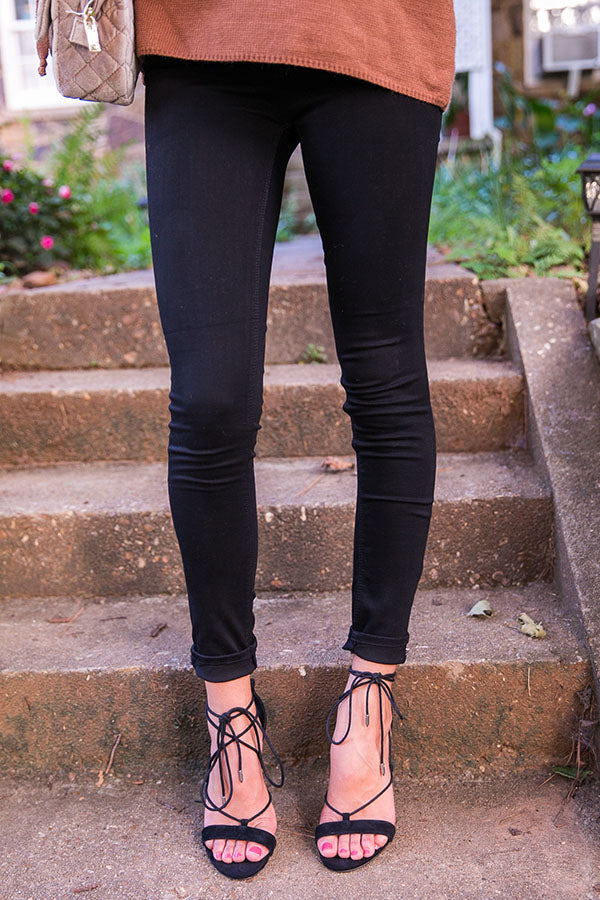 Jet Set Life High Rise Super Skinny In Dark Denim
