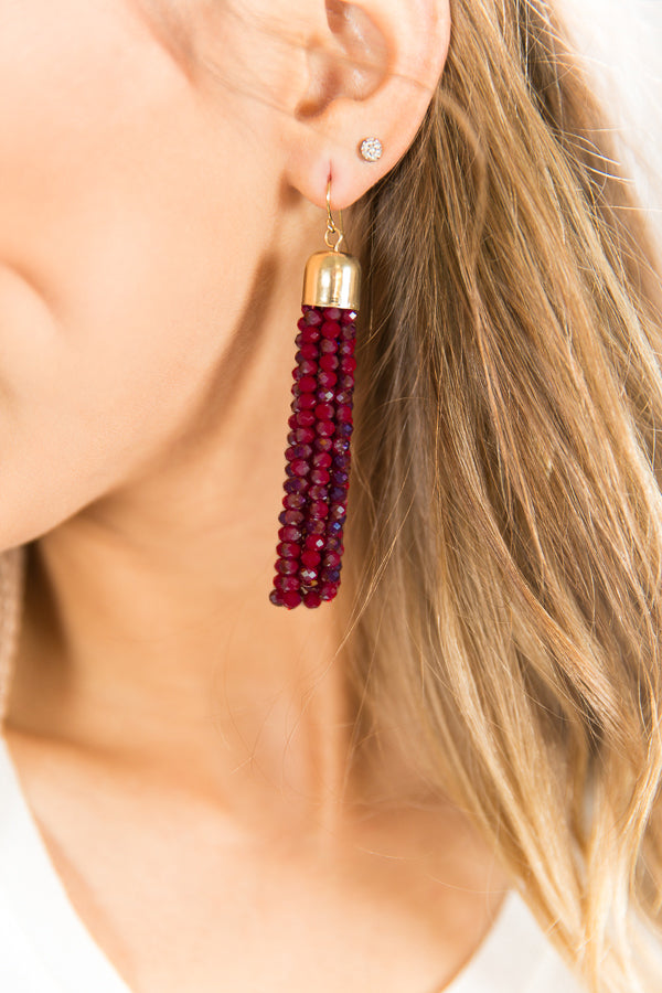 Glistening Goddess Tassel Earrings