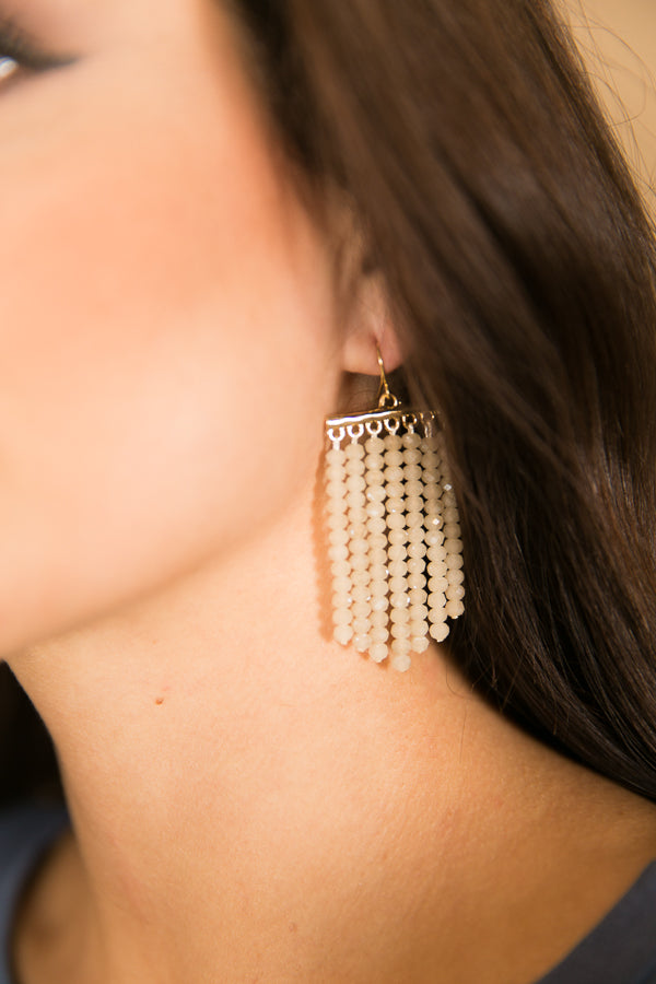 Glitz and Glam Earrings in Champagne