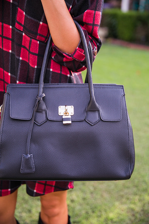 Luxe In London Tote in Black