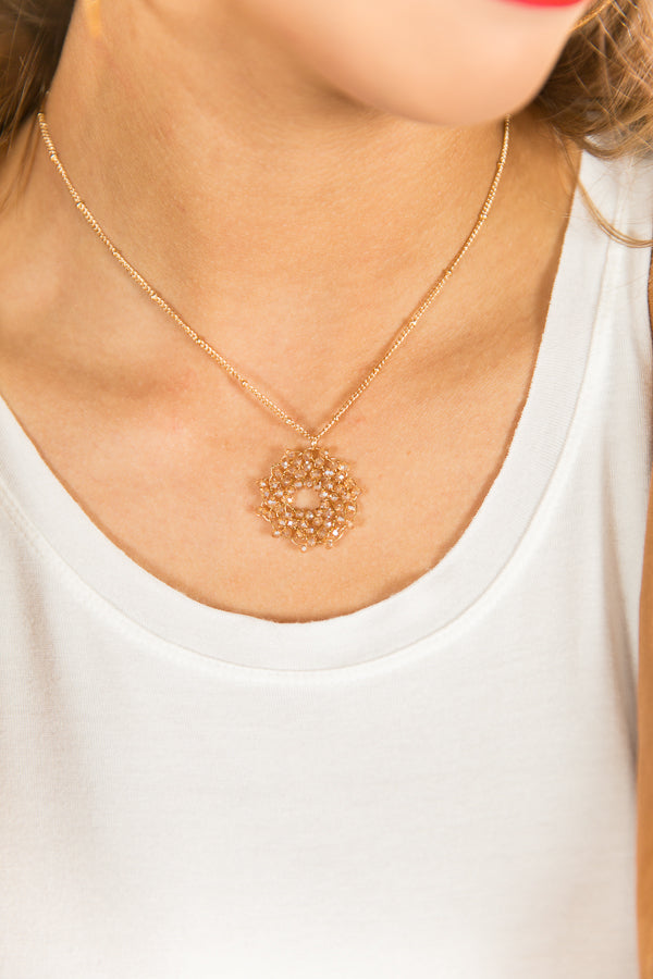 Afterglow Necklace In Champagne