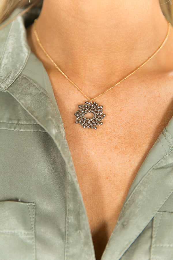 Afterglow Necklace In Dark Grey