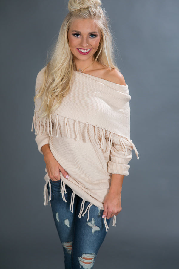 Picking Pumpkins Tunic Sweater in Cream