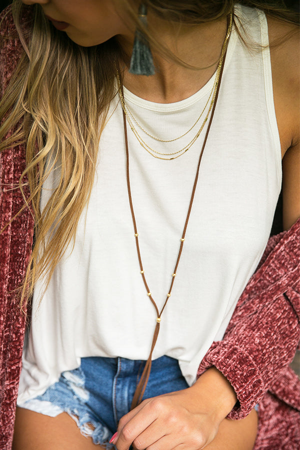 Going West Layered Choker