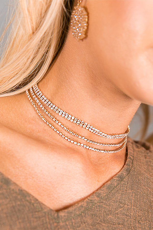 Encore Layered Choker In Gold