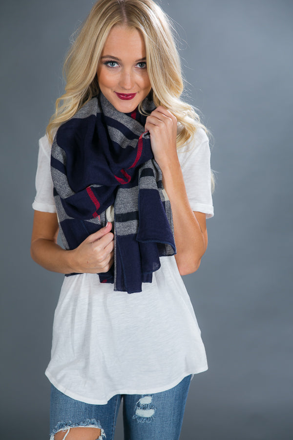 Burr It's Cold Scarf In Navy