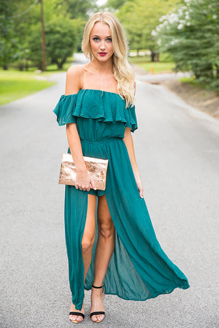 Paris Fashion Week Maxi in Dark Emerald