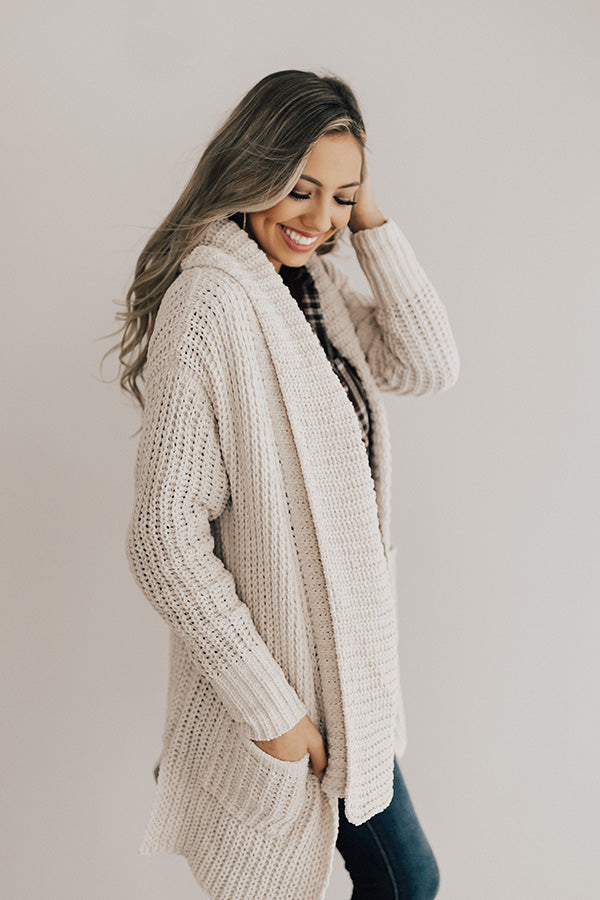 Pumpkin Spice Cuddly Cardigan in Cream