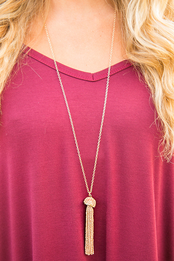 Sparkle So Sweet Tassel Necklace