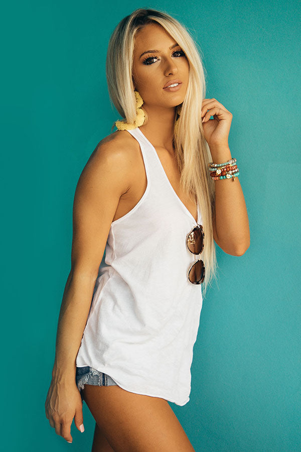 Hustle And Flow Tank in White