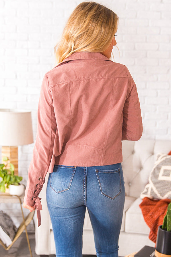 Autumn Crisp Lightweight Jacket in Blush