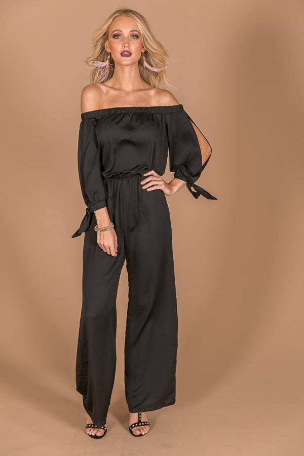 Haute For Happy Hour Jumpsuit in Black