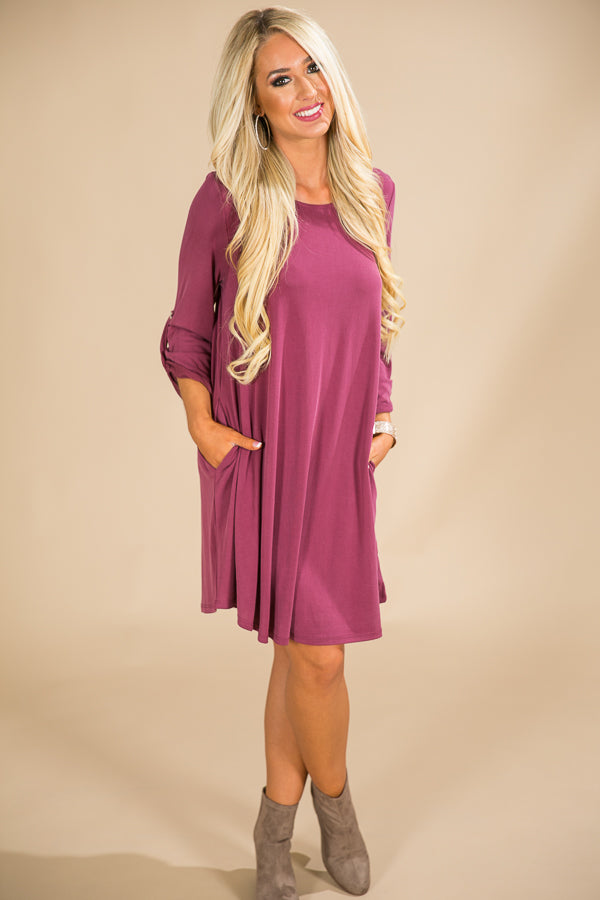 Sangria Sipping Shift Dress in Sangria