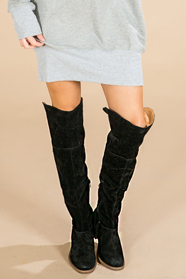 Estes Park Over The Knee Boot in Black