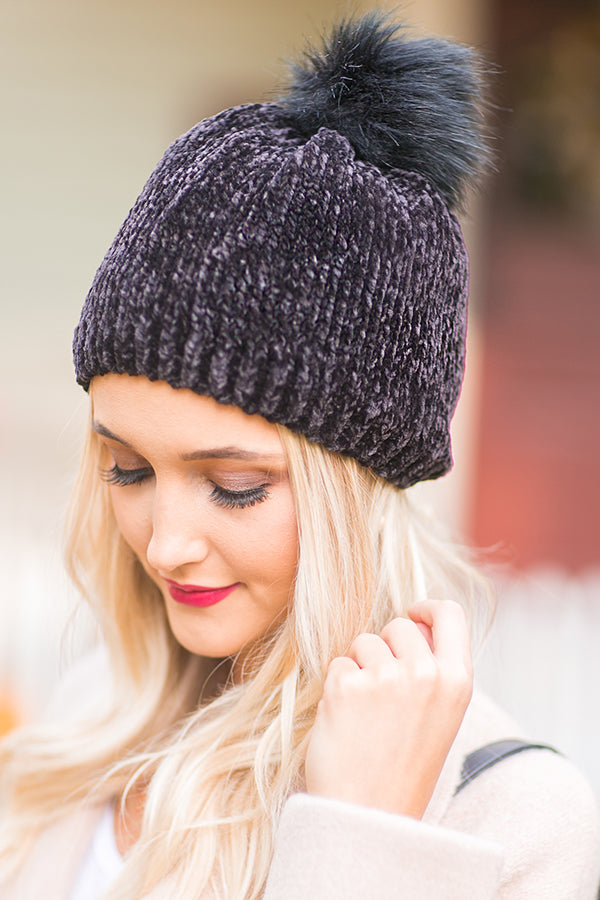Wine Night Ultra Soft Beanie in Black