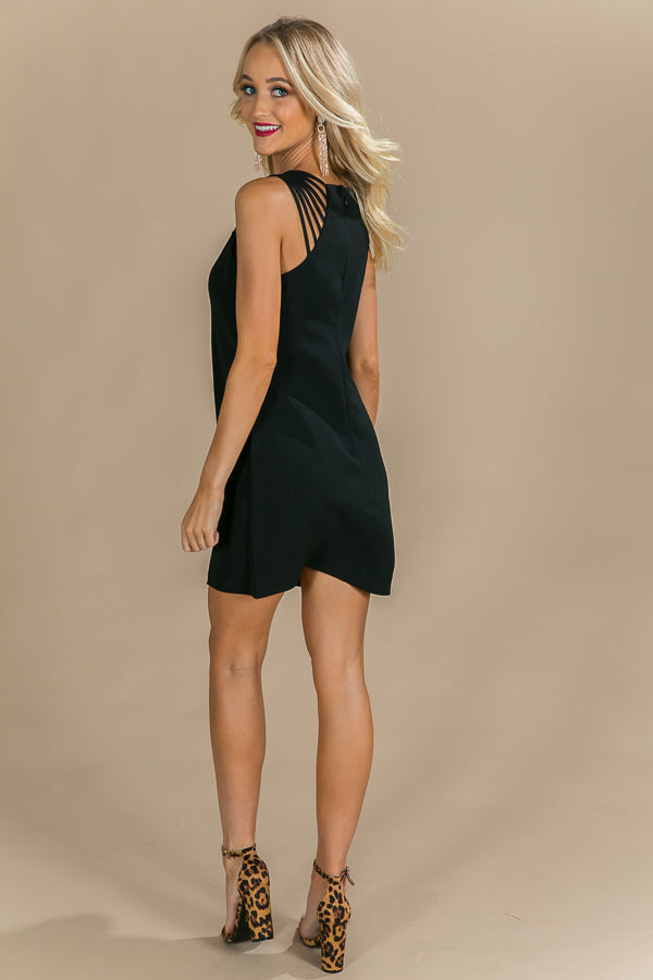 Prosecco Popping Dress in Black