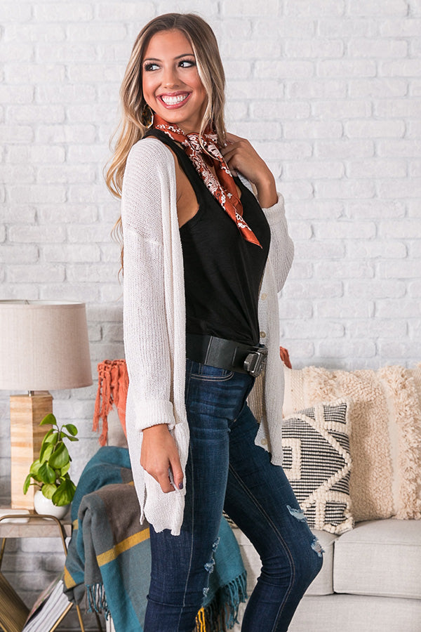 Cider By The Fire Cardigan in Ivory