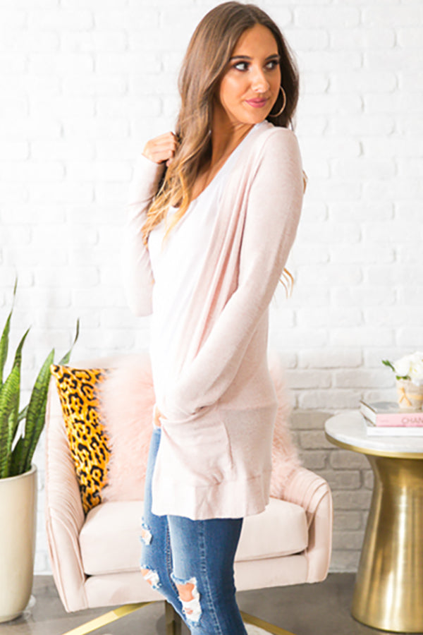 Call Me Cozy Cardigan in Pink