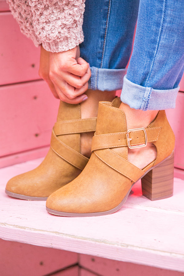 The Klein Bootie in Brown