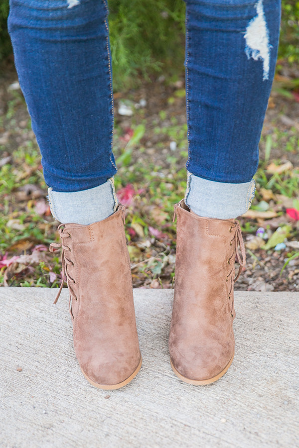 Big City Faux Suede Bootie