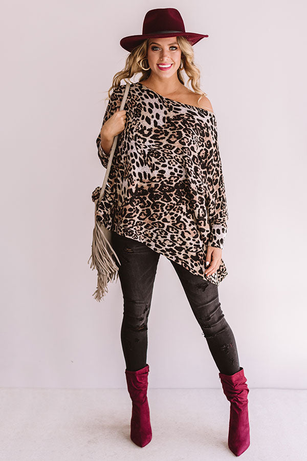 Leopard And Flow Shift Sweater