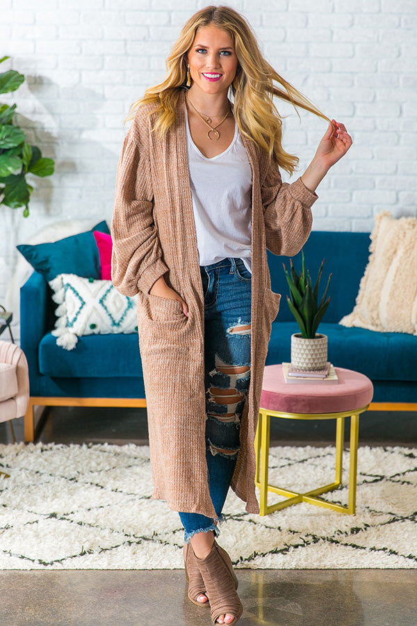 Office Party Duster Cardigan