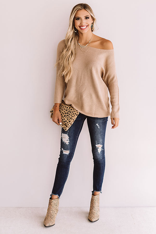 Weekend At The Cabin Tunic Sweater in Iced Latte