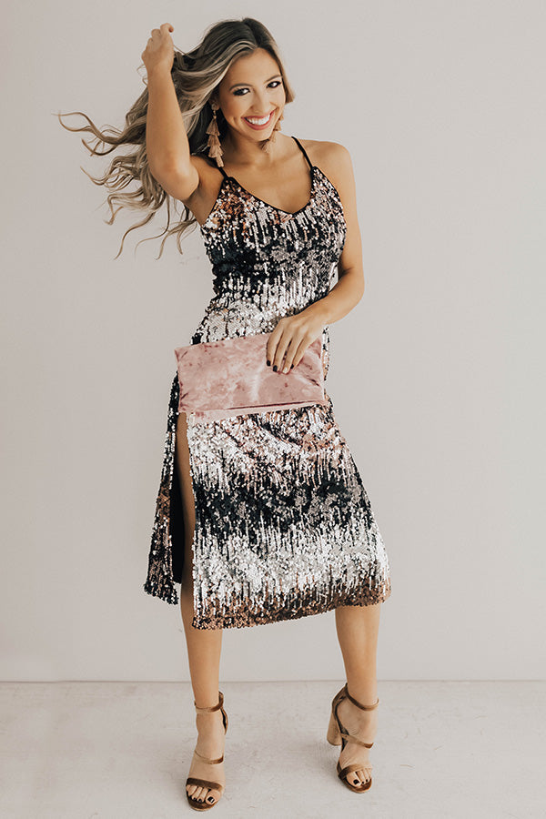 Silver Lining Sequin Midi Dress