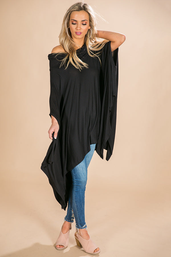 Cozy In Napa Tunic in Black