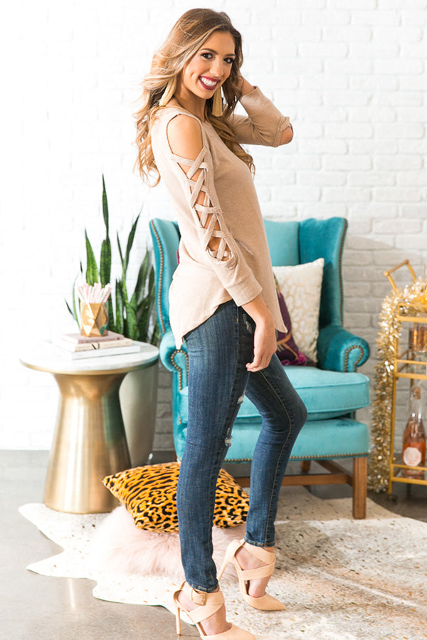Peace Of Mind Sweater in Iced Latte