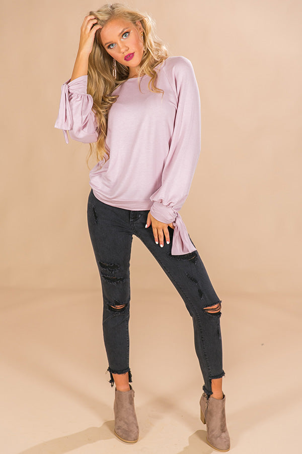 Girl's Weekend Sweatshirt in Blush