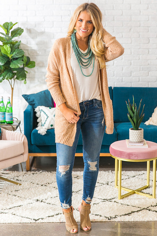 The Supermodel Cardigan in Iced Mocha