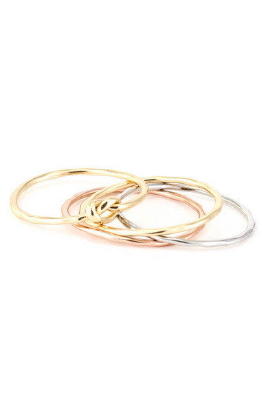 Stack Ring in 3 Tones