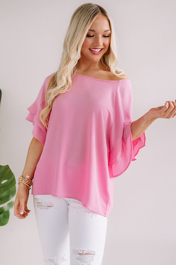 Parisian Vacation Shift Top in Pink