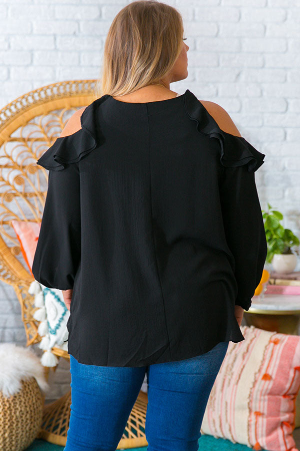 First Class To Paris Shift Top in Black
