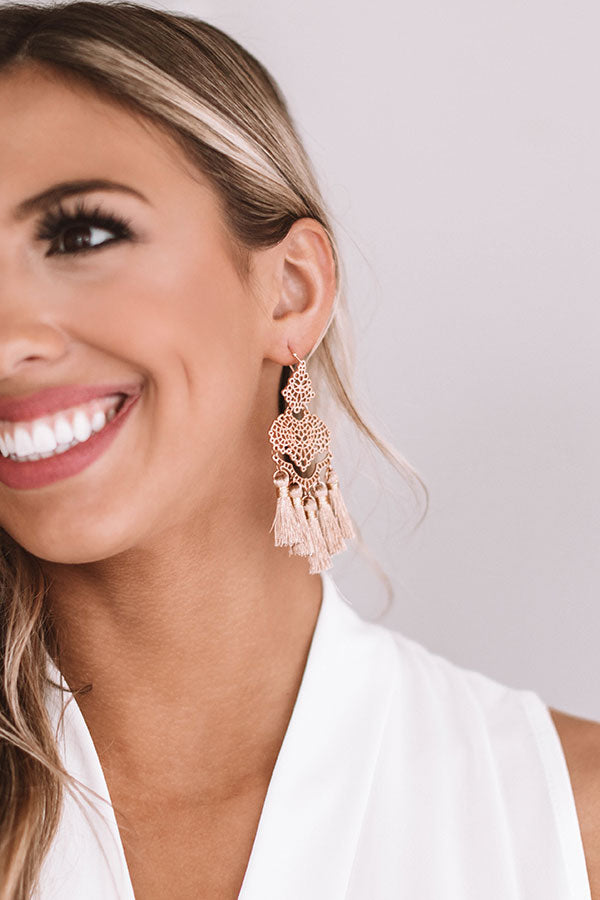 Good Vibes Only Tassel Earrings