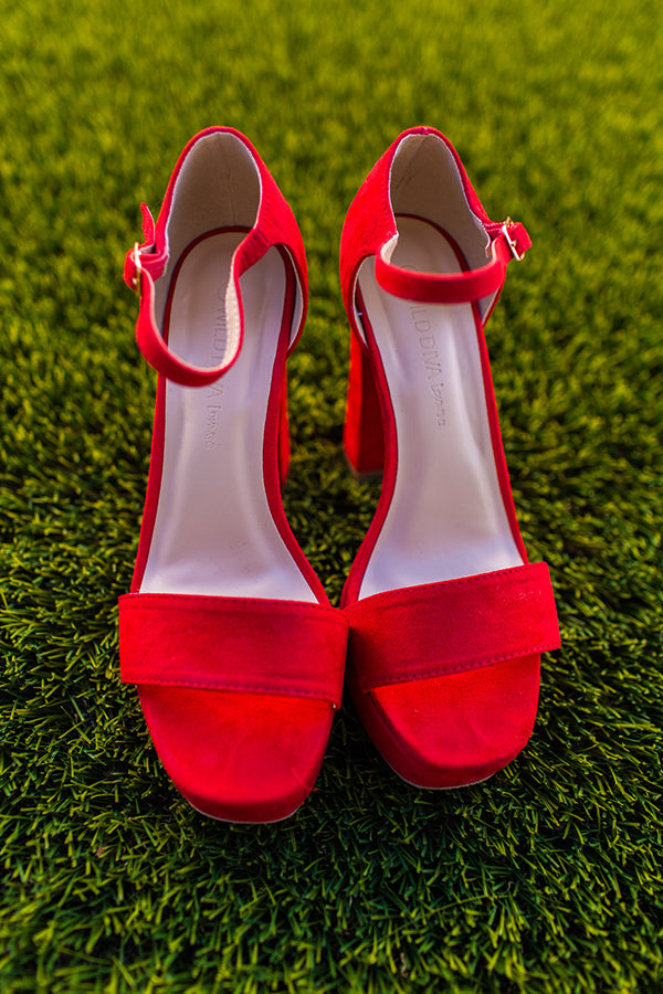 Heat Wave Heel in Red