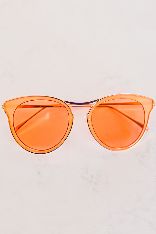 Catching Rays Sunglasses In Tangerine