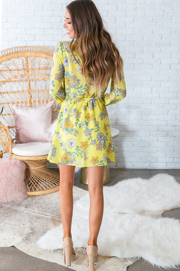 Sunshine Luxe Floral Shift Dress
