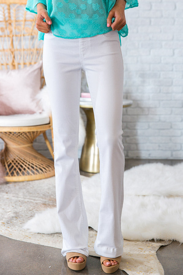 Fashion Week Flare Pants in White