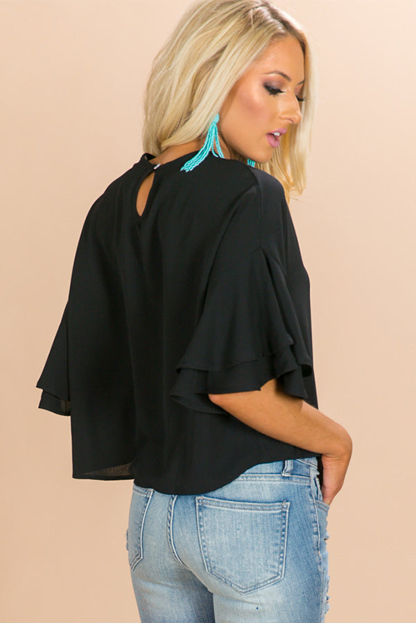 Brighton Babe Shift Top in Black