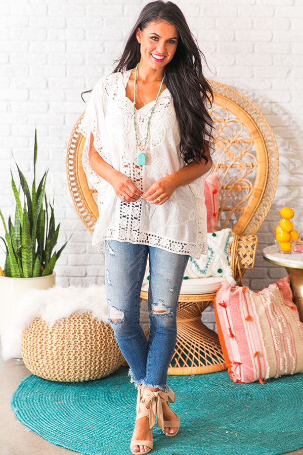 Seaside Crochet Shift Tunic