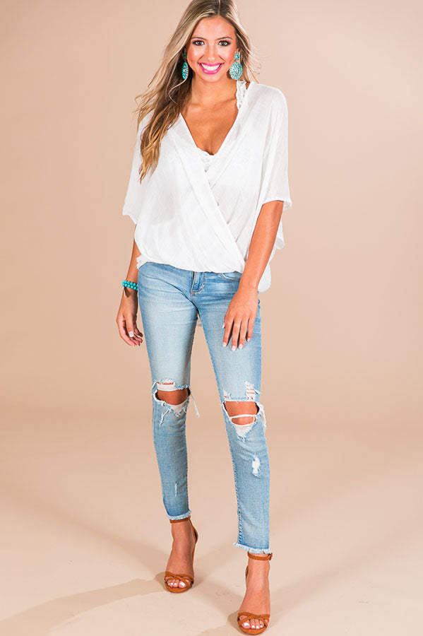 650693b1fe That s A Wrap Shift Top In White • Impressions Online Boutique