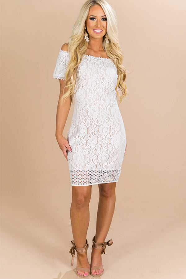 Off The Market Lace Dress