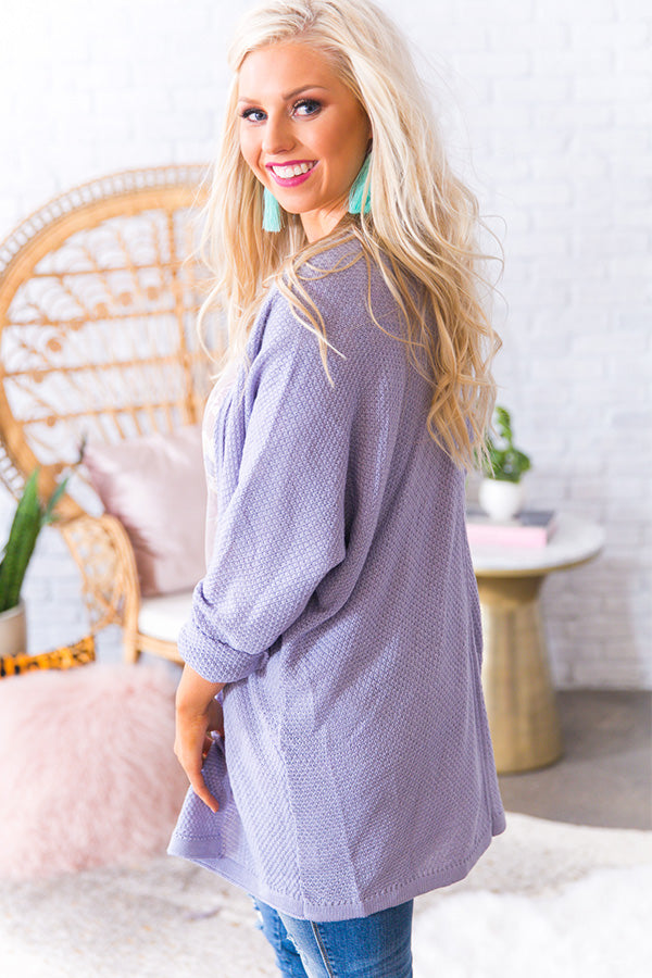 Cappuccino Kisses Knit Cardigan in Lavender
