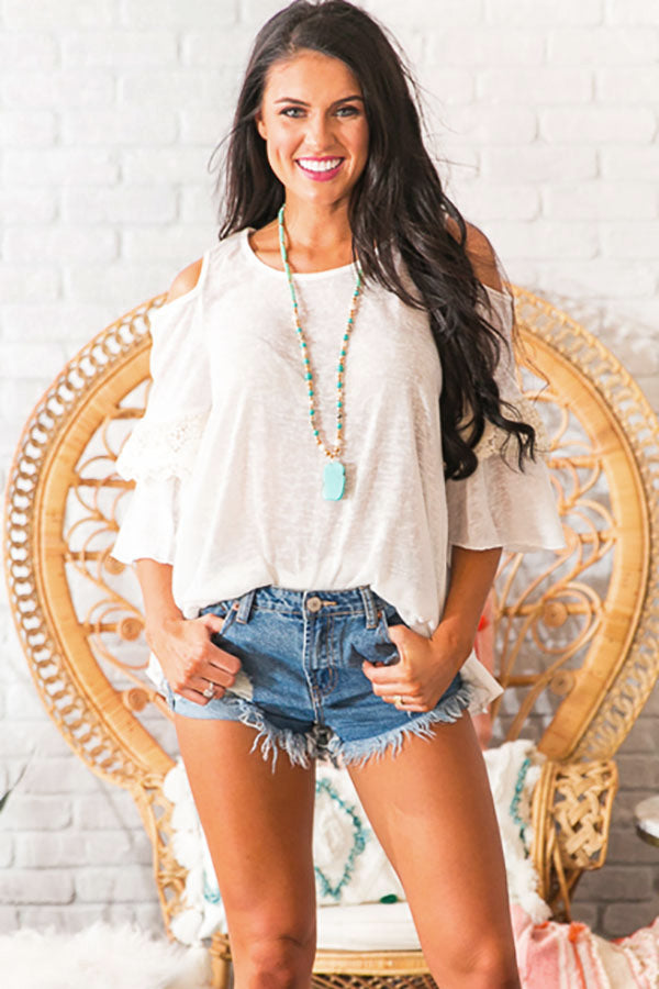 Sunny Days Ahead Shift Top in White