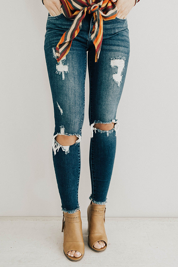 The Camila Mid Rise Ankle Skinny